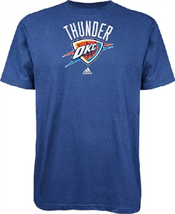 Oklahoma City Thunder The Go To Light Blue NBA Short Sleeve T Shirt by Adidas
