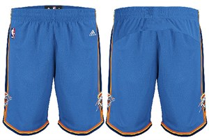 "Oklahoma City Thunder Youth 8"" Inseam NBA Replica Basketball Shorts By Adidas"