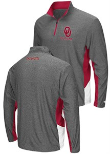 Oklahoma Sooners Charcoal The Executive Pullover Synthetic Windshirt