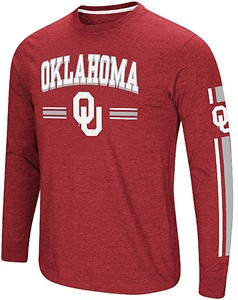 Oklahoma Sooners Crimson Colosseum Touchdown Pass Long Sleeve T Shirt