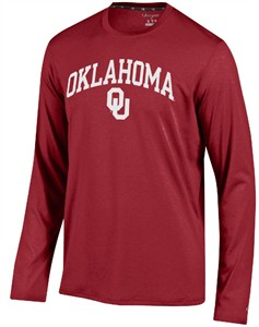 Oklahoma Sooners Crimson Epic Synthetic Long Sleeve T Shirt