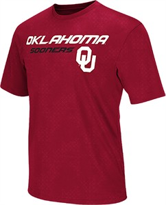 Oklahoma Sooners Crimson Mens Gridlock Synthetic Poly Short Sleeve T Shirt