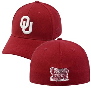 Oklahoma Sooners Crimson Premium Collection One-Fit Memory Fit Cap