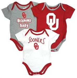 Oklahoma Sooners Infant & Toddler Moms Choice 3 Pack Creeper Set