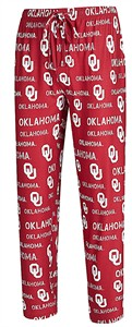 Oklahoma Sooners Men's Crimson Midfield Synthetic Pajama Pants by College Concepts