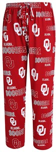 Oklahoma Sooners Mens Crimson Sweep Pajama Pants by Concepts Sports