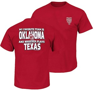 Oklahoma Sooners My Favorite Team Crimson Short Sleeve T Shirt
