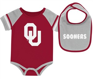 Oklahoma Sooners Newborn & Infant Crimson Bodysuit & Bib Set