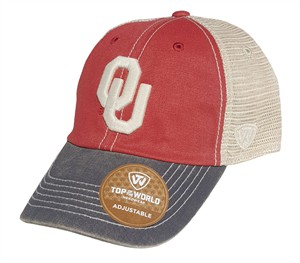 Oklahoma Sooners Past Adjustable Trucker Mesh Adjustable Cap