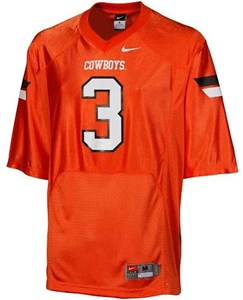 3842ac267 Oklahoma State Cowboys Youth Solid Orange #3 Nike Replica Football Jersey | Oklahoma  State Cowboys