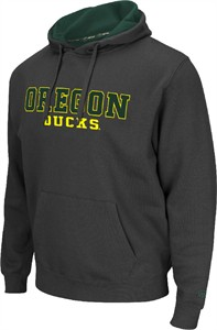 Oregon Ducks Mens Charcoal Zone 2 Embroidered Hoodie