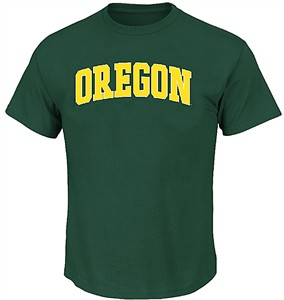 uk availability 224ff 6637d Oregon Ducks Mens Green School Logo Short Sleeve T Shirt ...