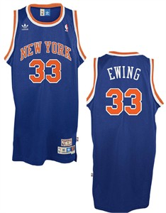 8c2550d5e Patrick Ewing New York Knicks NBA Embroidered Replica Throwback Basketball  Jersey By Adidas