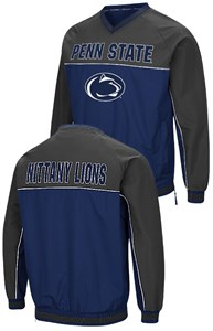 Penn State Nittany Lions Blue Embroidered Coach Klein V Neck Pullover Windbreaker