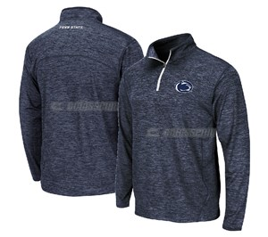 Penn State Nittany Lions Charcoal Heather Action Pass 1/4 Pullover Synthetic Windshirt