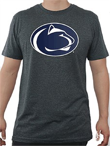 Penn State Nittany Lions Charcoal Slim Fit Secondary Team Logo T Shirt-Sale