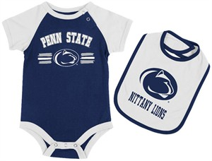 Penn State Nittany Lions Infant Dribble Onesie and Bib Set by Colosseum