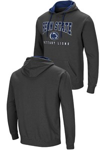 Penn State Nittany Lions Mens Charcoal Grey Colosseum Embroidered Playbook Hoodie Sweatshirt