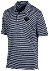 Penn State Nittany Lions Mens Marine Navy Stadium Stripe Synthetic Polo Shirt by Champion