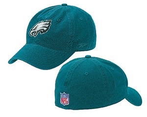 Philadelphia Eagles NFL Green Unstructured Stretch Fit Sized Cap By Reebok
