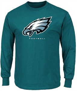 Philadelphia Eagles Green Critical Victory 3 Majestic Long Sleeve T Shirt