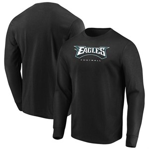 Philadelphia Eagles Mens Black Our Team Long Sleeve T Shirt