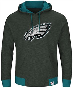 3a4d043f6 Philadelphia Eagles Mens Charcoal Game Day Classic Hoodie Sweatshirt by  Majestic