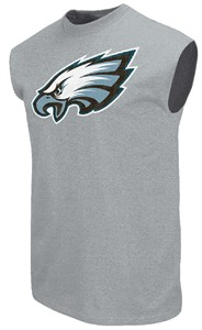Philadelphia Eagles Steel Heather Critical Victory 9 Sleeveless T Shirt by Majestic