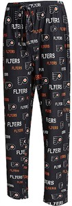 Philadelphia Flyers Men's Black Midfield Synthetic Pajama Pants