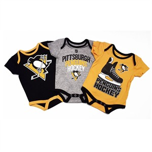 0bc6616b8 Pittsburgh Penguins Infant Hat Trick3 Pack Creeper Bodysuit Set |  Pittsburgh Penguins