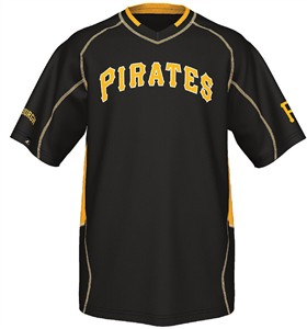 Pittsburgh Pirates MLB Fast Action Synthetic V Neck Jersey by Majestic