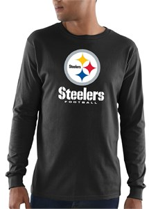Pittsburgh Steelers  Mens Black Critical Victory 3 Long Sleeve T Shirt
