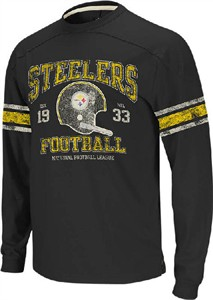Pittsburgh Steelers 11 Black Vintage Applique Long Sleeve Shirt by Reebok  dcadfe958