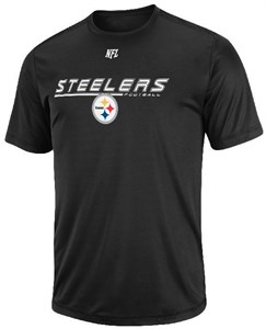 Pittsburgh Steelers Black Short Yardage 5 Short Sleeve Performance Shirt by VF