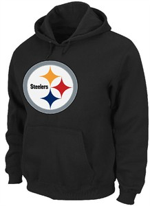 Pittsburgh Steelers Embroidered Classic IV Heavyweight Hooded Sweatshirt by VF