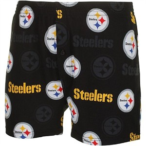 Pittsburgh Steelers Mens Black Insider Boxer Shorts by Concepts Sports