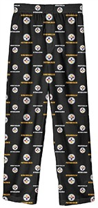 Pittsburgh Steelers Youth Black All Over Pajama Pants