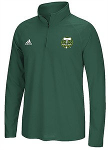 Portland Timbers Green Heather1/4 Zip LC Synthetic Shirt by Adidas