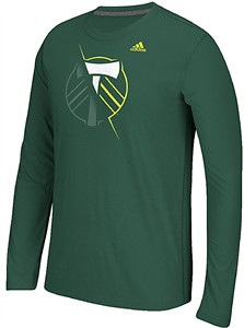 Portland Timbers Uncovered Adidas Climalite Synthetic Ultimate Long Sleeve Shirt