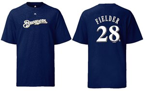 Prince Fielder Youth Milwaukee Brewers 2-Sided MLB Short Sleeve Tee Shirt By Majestic