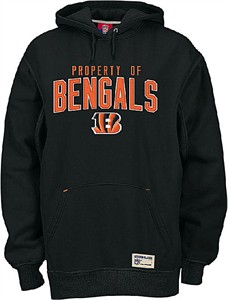 outlet store c9c3c 5670e Reebok Cincinnati Bengals NFL Embroidered Twill Hooded ...