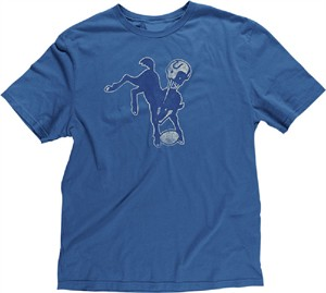 Reebok Indianapolis Colts Retro Logo Slimmer Fit Throwback T Shirt