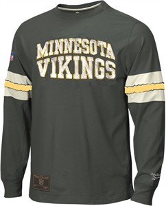 Reebok Minnesota Vikings Black Throwback Shirt