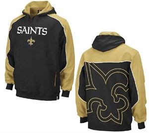 Reebok New Orleans Saints Youth Black Arena Hoody Sweatshirt