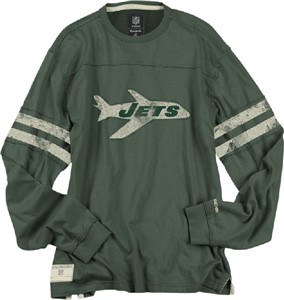 62865f44e Reebok New York Jets Green Vintage Applique Throwback Shirt