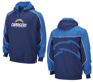 save off 50b1c 9484e Reebok San Diego Chargers Youth Blue Arena Hoody Sweatshirt ...