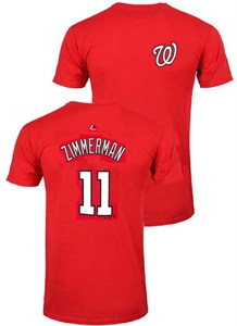 Youth Ryan Zimmerman Washington Nationals Red Player Name T Shirt