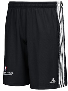 San Antonio Spurs Black Climalite Enough Said Practice Shorts by Adidas