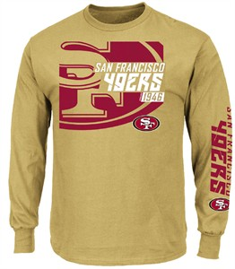 save off eb9bb 111f8 San Francisco 49ers Harvest Gold Dual Threat VI Long Sleeve ...
