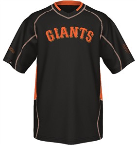 San Francisco Giants MLB Fast Action Synthetic V Neck Jersey by Majestic